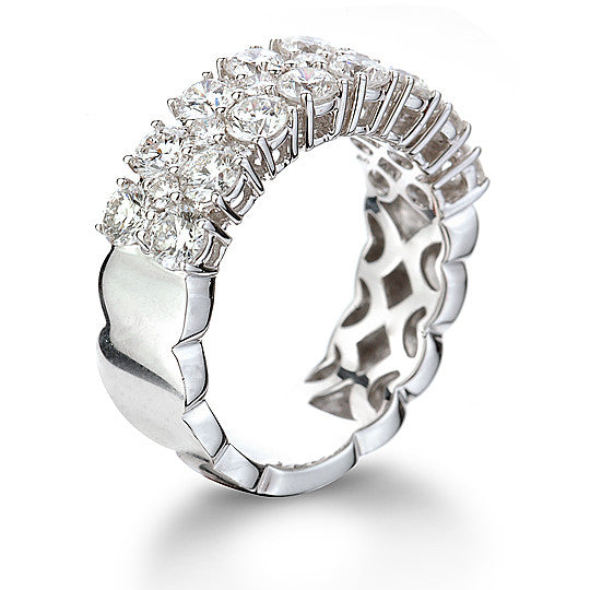 Triple Row Diamond Ring 2.45Ct - Isaac Westman - 4