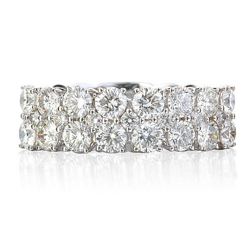 Triple Row Diamond Ring 2.45Ct - Isaac Westman - 3