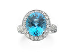 Blue Topaz Diamond Ring - Isaac Westman - 1