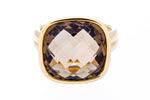 Yellow Gold Smoky Quartz Ring - Isaac Westman - 3