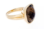 Yellow Gold Smoky Quartz Ring - Isaac Westman - 2