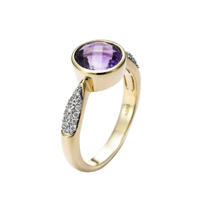 Diamond & Amethyst Gold Ring - Isaac Westman - 3
