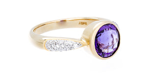 Diamond & Amethyst Gold Ring - Isaac Westman - 2