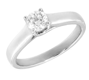 Platinum Round Brilliant Solitaire Engagement Ring