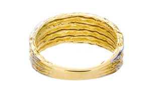 Two Tone Hammered Gold Ring - Isaac Westman - 3
