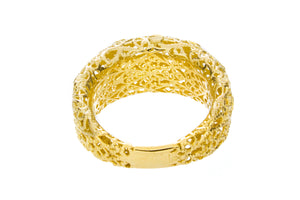 Yellow Gold Diamond Cut Ring - Isaac Westman - 3