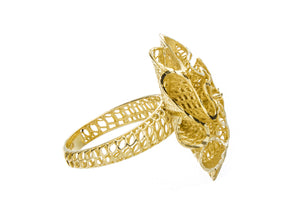 Yellow Gold Flower Ring - Isaac Westman - 2