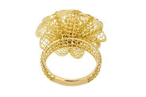 Yellow Gold Flower Ring - Isaac Westman - 3