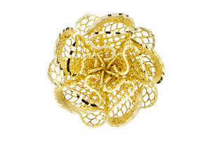 Yellow Gold Flower Ring - Isaac Westman - 4