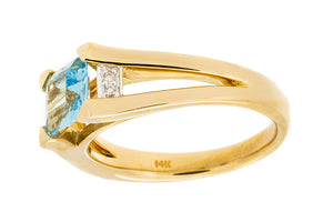 Blue Topaz Ring - Isaac Westman - 4