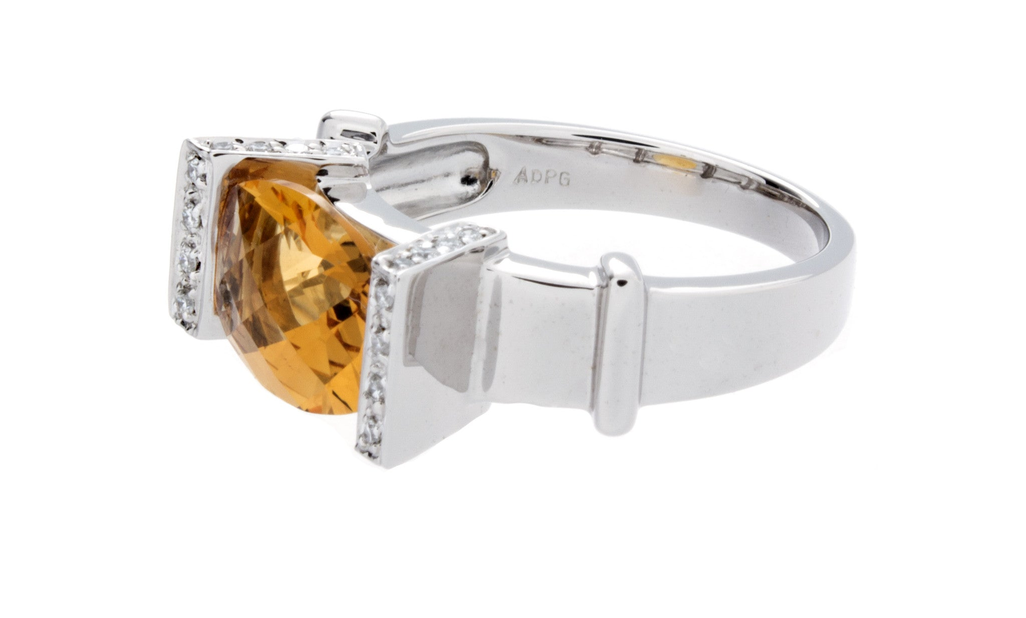 Diamond & Citrine Gold Ring - Isaac Westman - 2