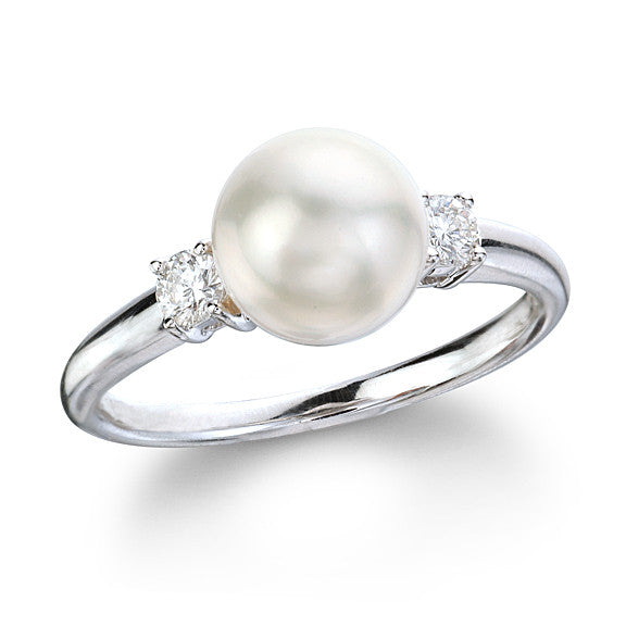 Akoya Cultured Pearl & Diamond Ring - Isaac Westman - 1