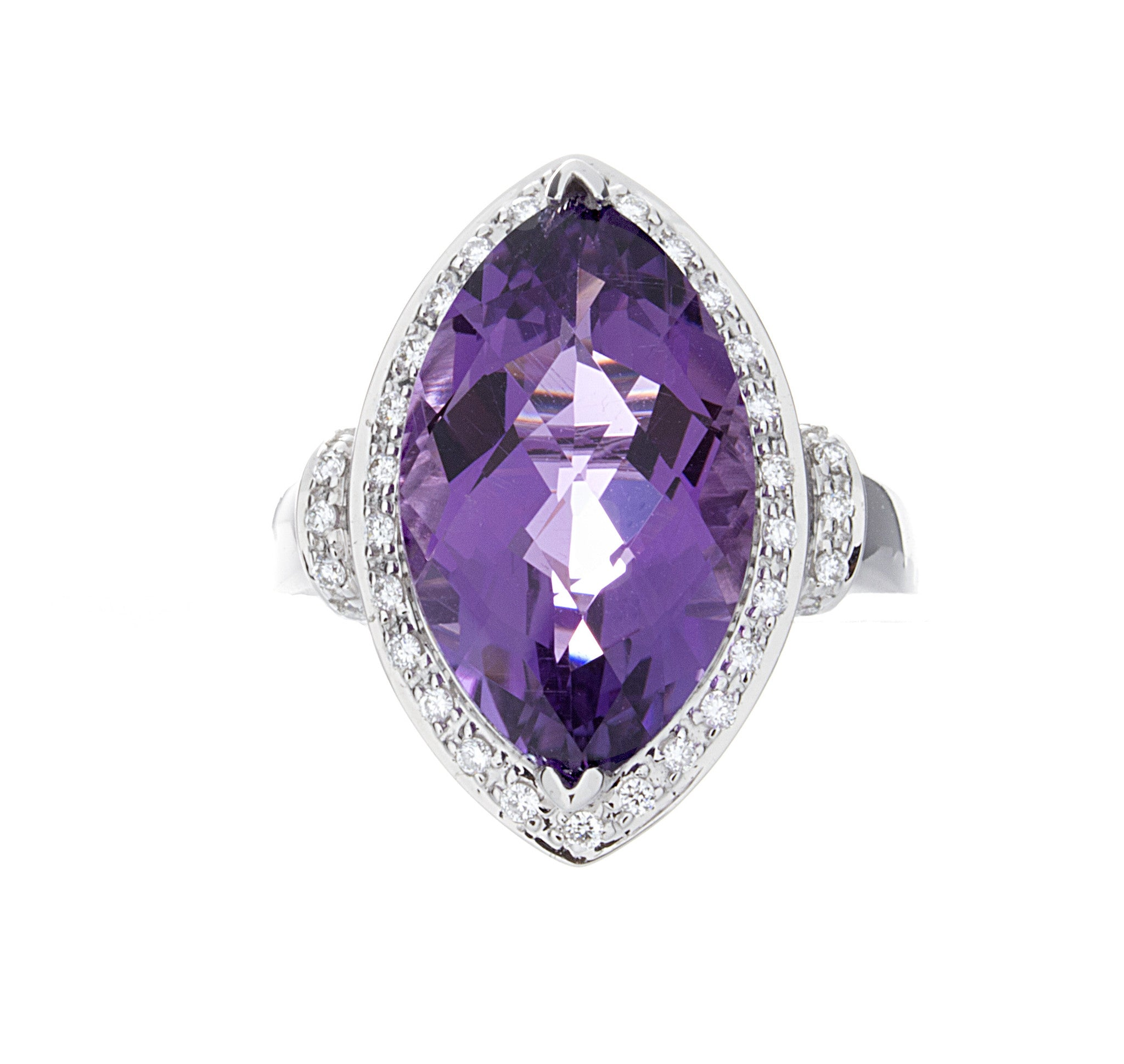 Diamond & Amethyst Gold Ring - Isaac Westman - 1