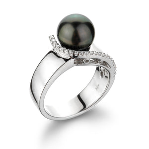 Black Tahitian Pearl Ring