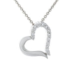 White Gold & Diamond Heart Pendant