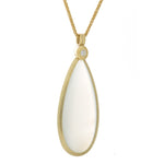 Yellow Gold Moonstone Pendant