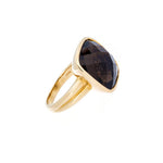 Smoky Quartz 14K Yellow Gold Ring