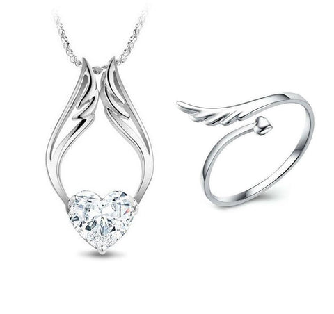 2 PACK: Angel Heart Necklace & Angel Heart Love Ring