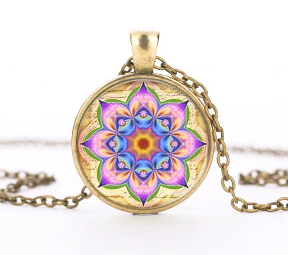 Earrings - Goddess Lotus Mandala Necklace