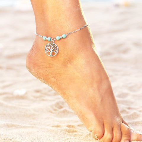 Tree of Life Boho Beach Anklet