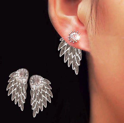 Angel Wings of Destiny Earrings Silver: 3-PACK BUY 2 Get 1 FREE