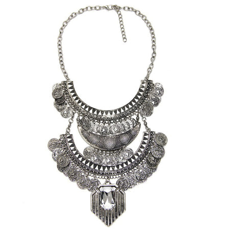 Royal Aztec Coin Necklace