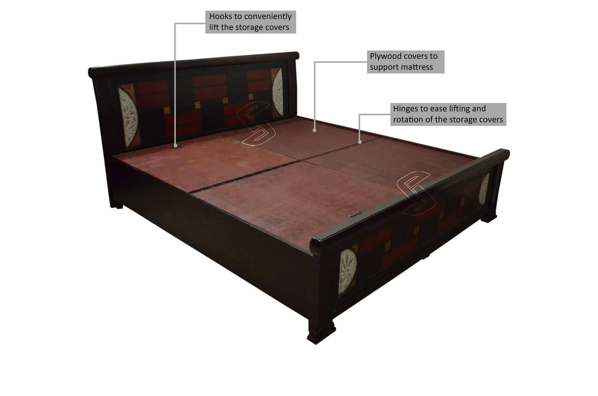 Stamf King Bed With Storage Beds Online In Hyderabad
