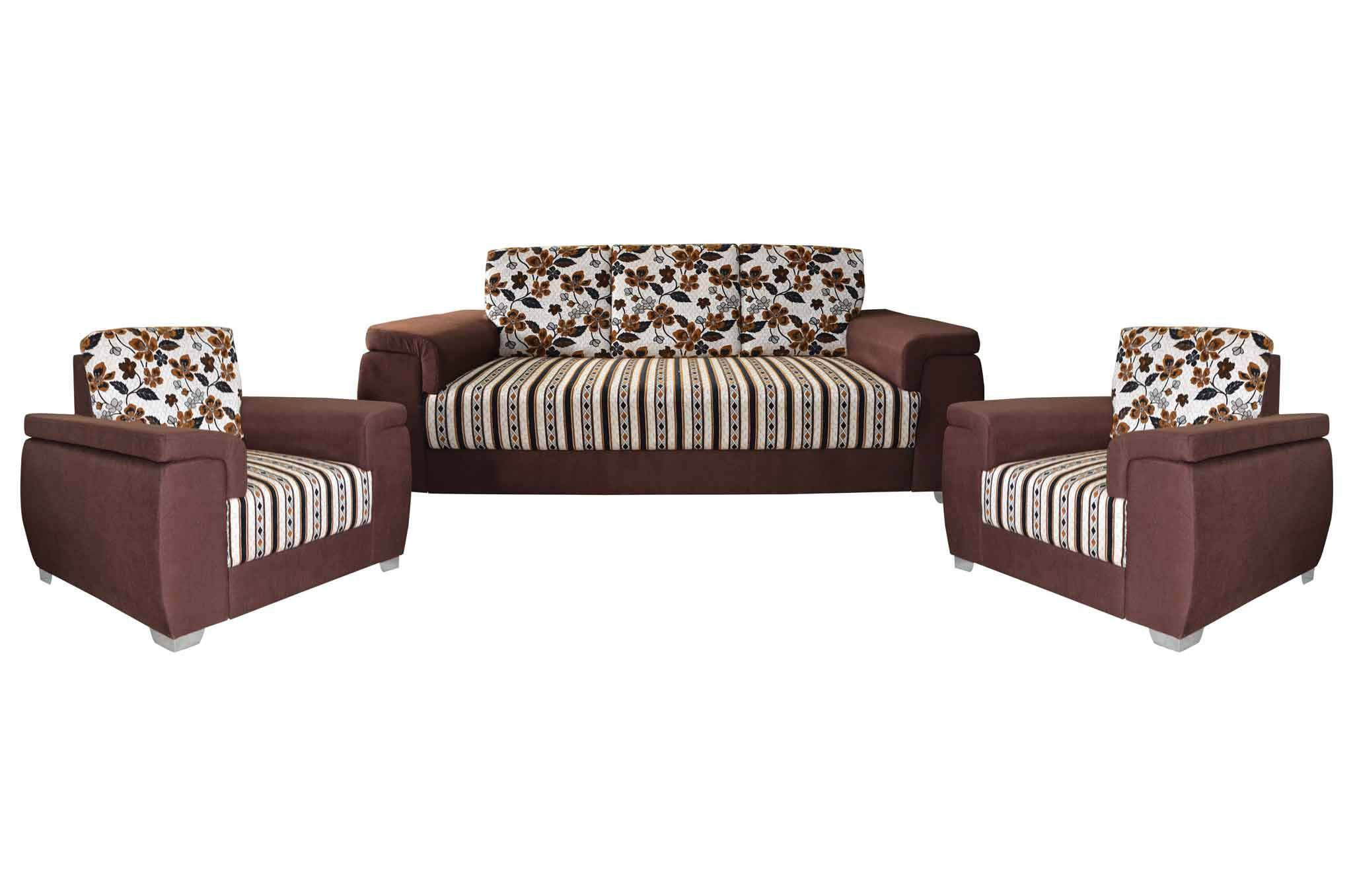 Astounding Mayro Fabric 3 1 1 Sofa Set Brown Gmtry Best Dining Table And Chair Ideas Images Gmtryco
