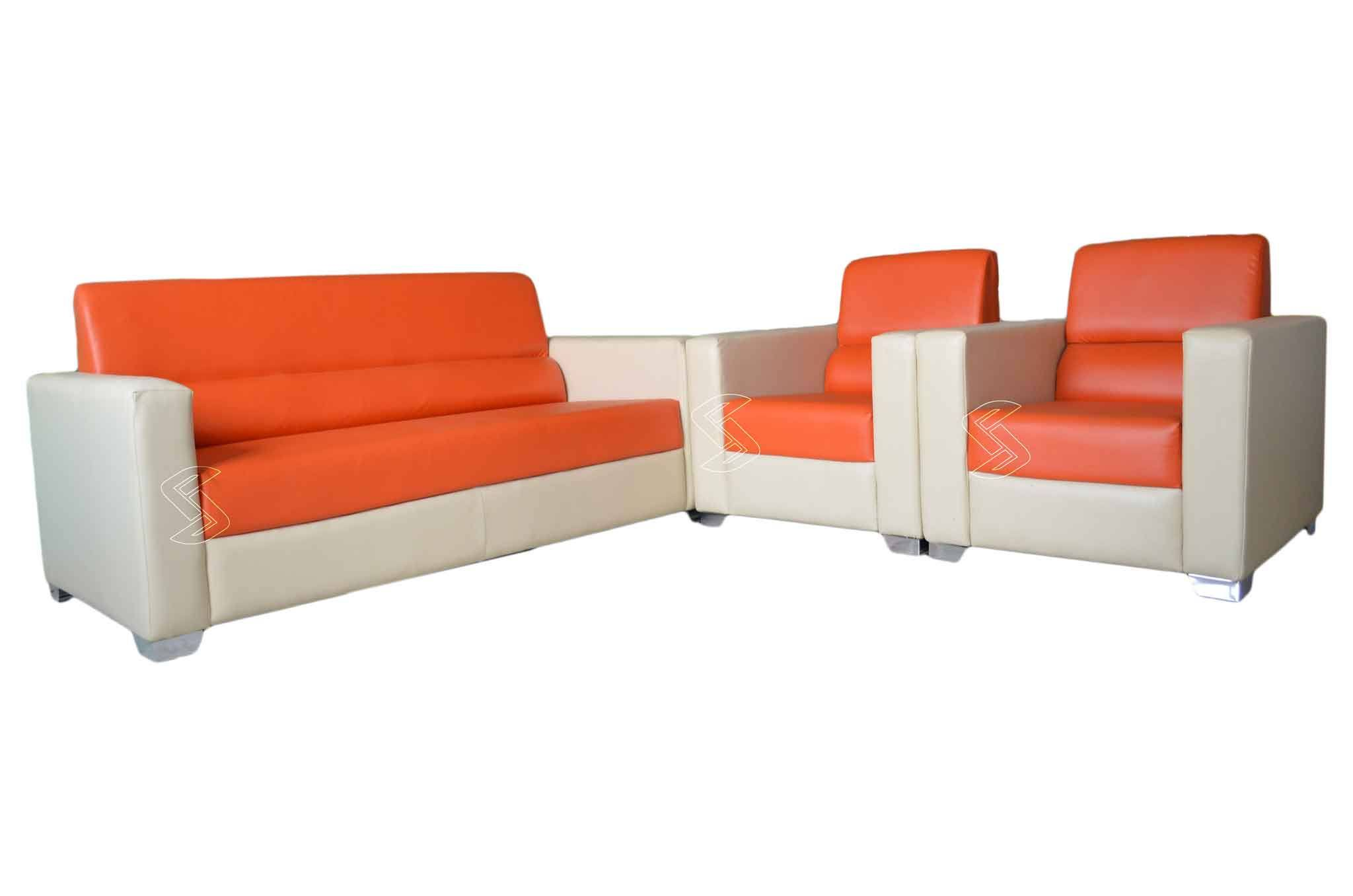Caynes Sofa Set Orange Sofa Sets line in Hyderabad Sanfurn