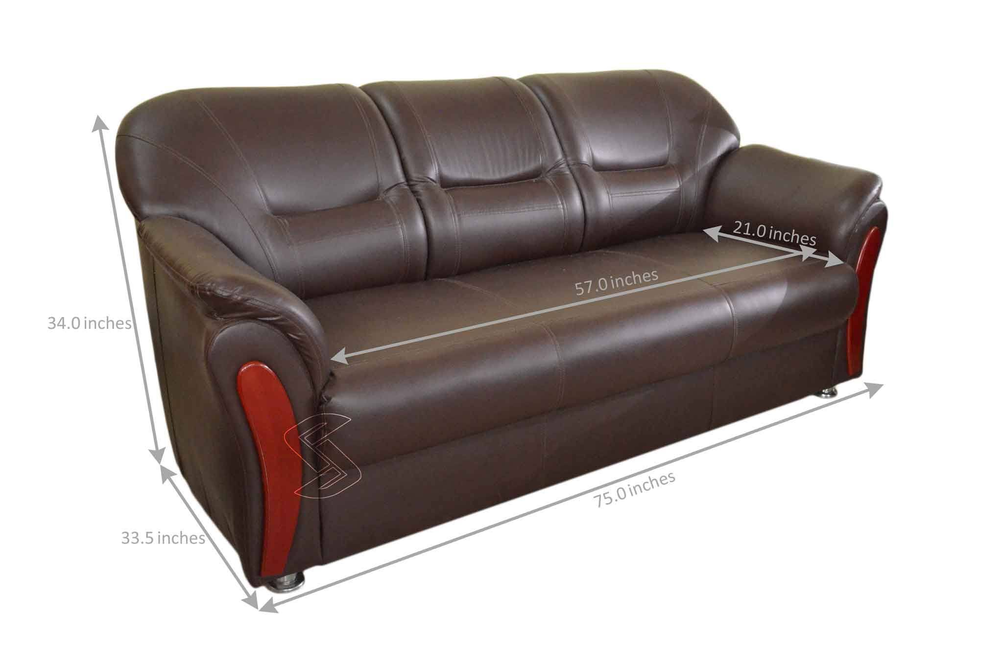 Clifton Leatherette 3+1+1 Sofa Set (Brown)