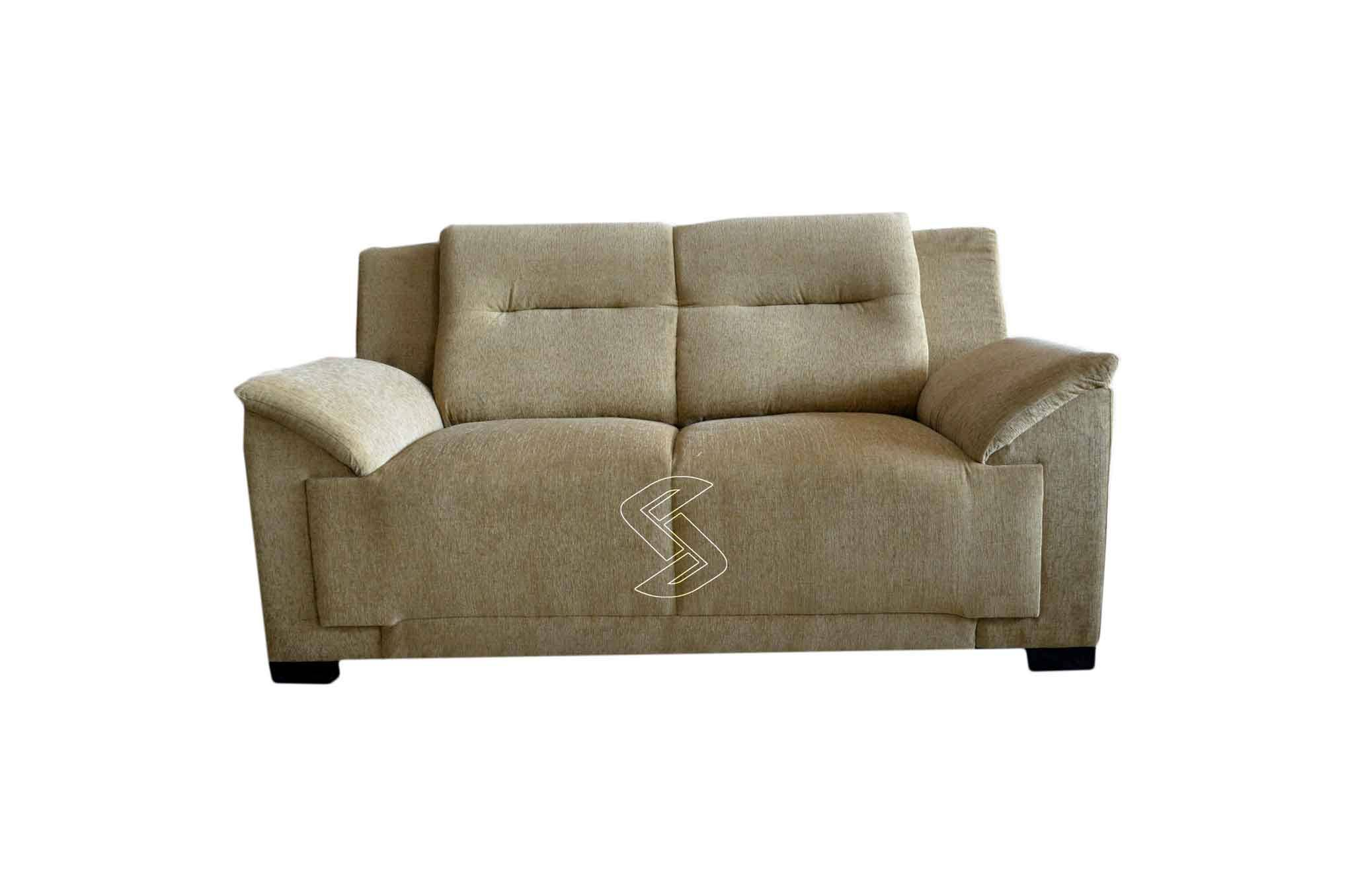 Doxsa Fabric 2-seater Sofa (Beige)