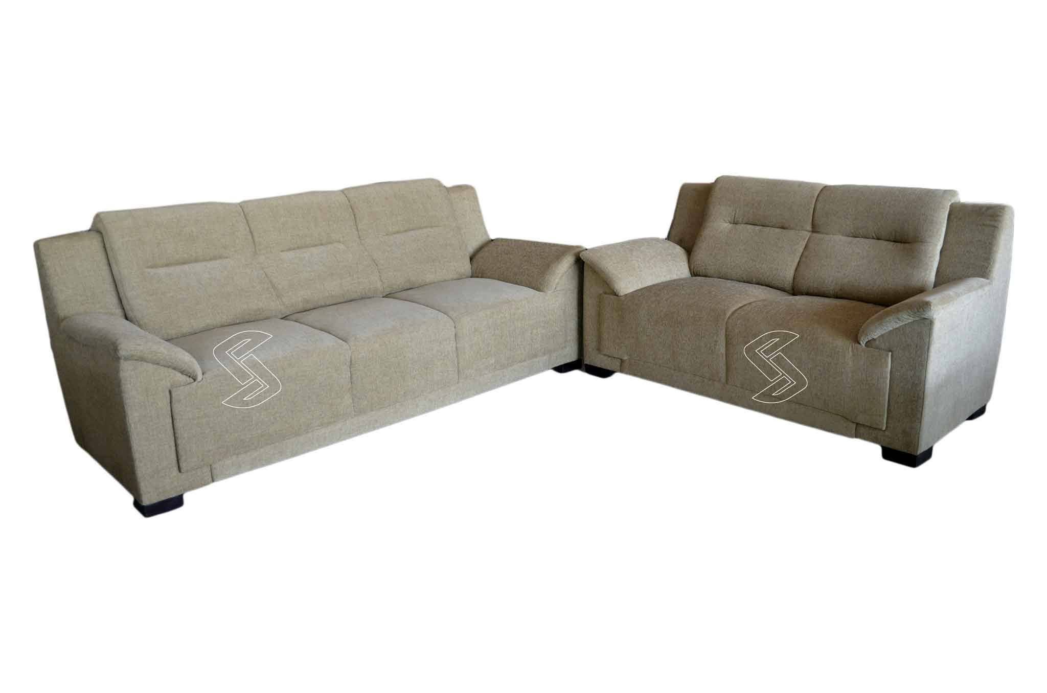 Marvelous Doxsa Fabric 3 2 Sofa Set Beige Gmtry Best Dining Table And Chair Ideas Images Gmtryco