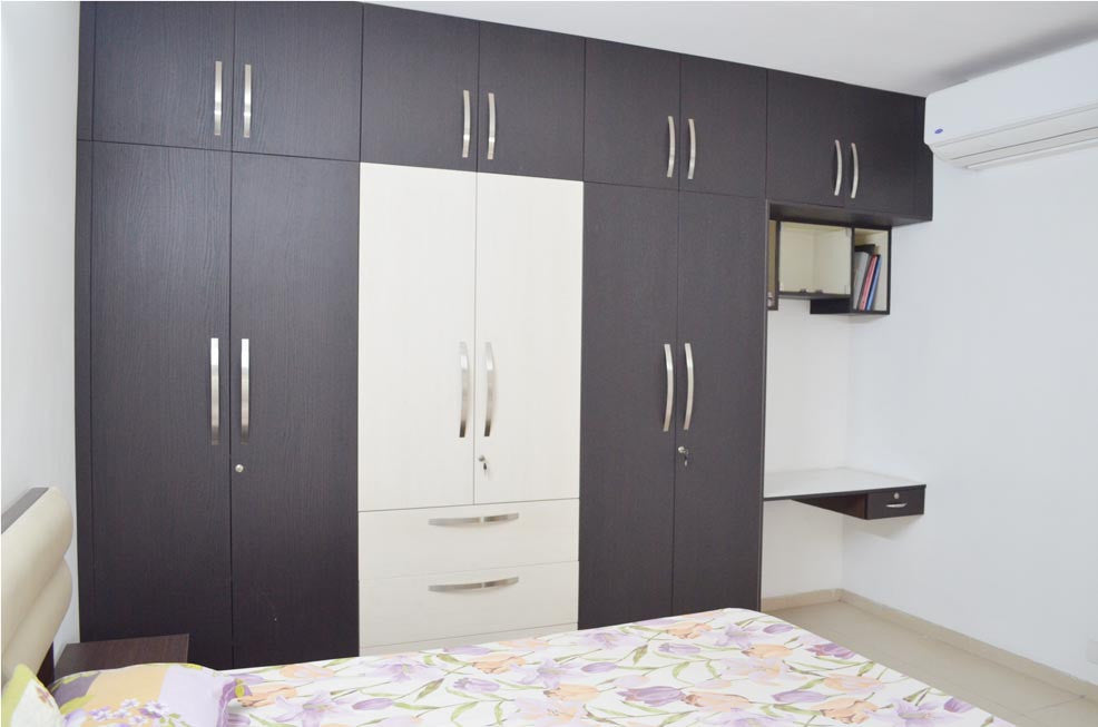 Wardrobe Kylma Open Door Wardrobe With Loft And Study Desk Sanfurn