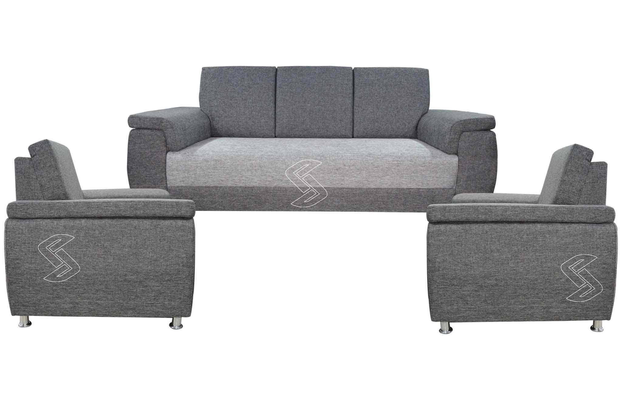 Mayro Fabric 3+1+1 Sofa Set (Grey)