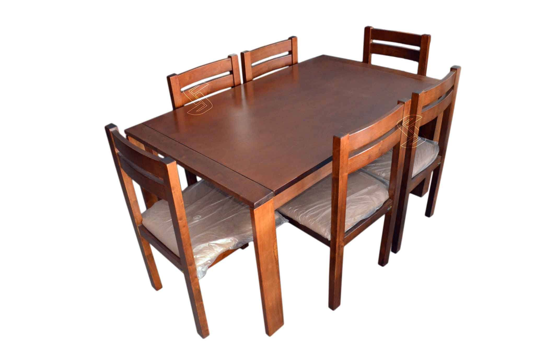 Nipro 6 Seater Dining Table Set Natural Finish