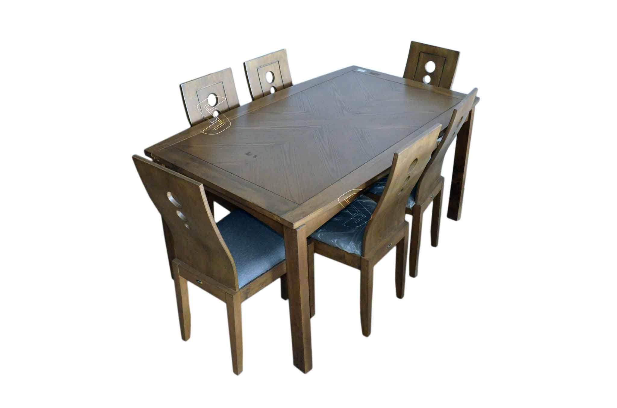 Nivo 6 Seater Dining Table Set Natural Finish