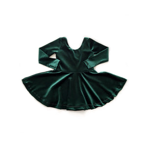 Velvet Hunter Green Dress