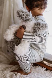 Button romper- Pinstripe - high quality handmade kids clothes - Brooklynn & Grey