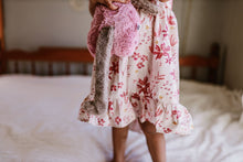 Hi/Low Dress-Pink leaves - high quality handmade kids clothes - Brooklynn & Grey