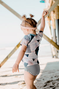 Striped bikini swim bottoms - high quality handmade kids clothes - Brooklynn & Grey