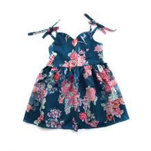 Kate Blue bloom dress - high quality handmade kids clothes - Brooklynn & Grey