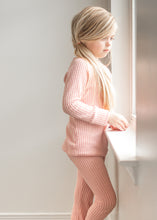 PJ set - Pink waffle - high quality handmade kids clothes - Brooklynn & Grey