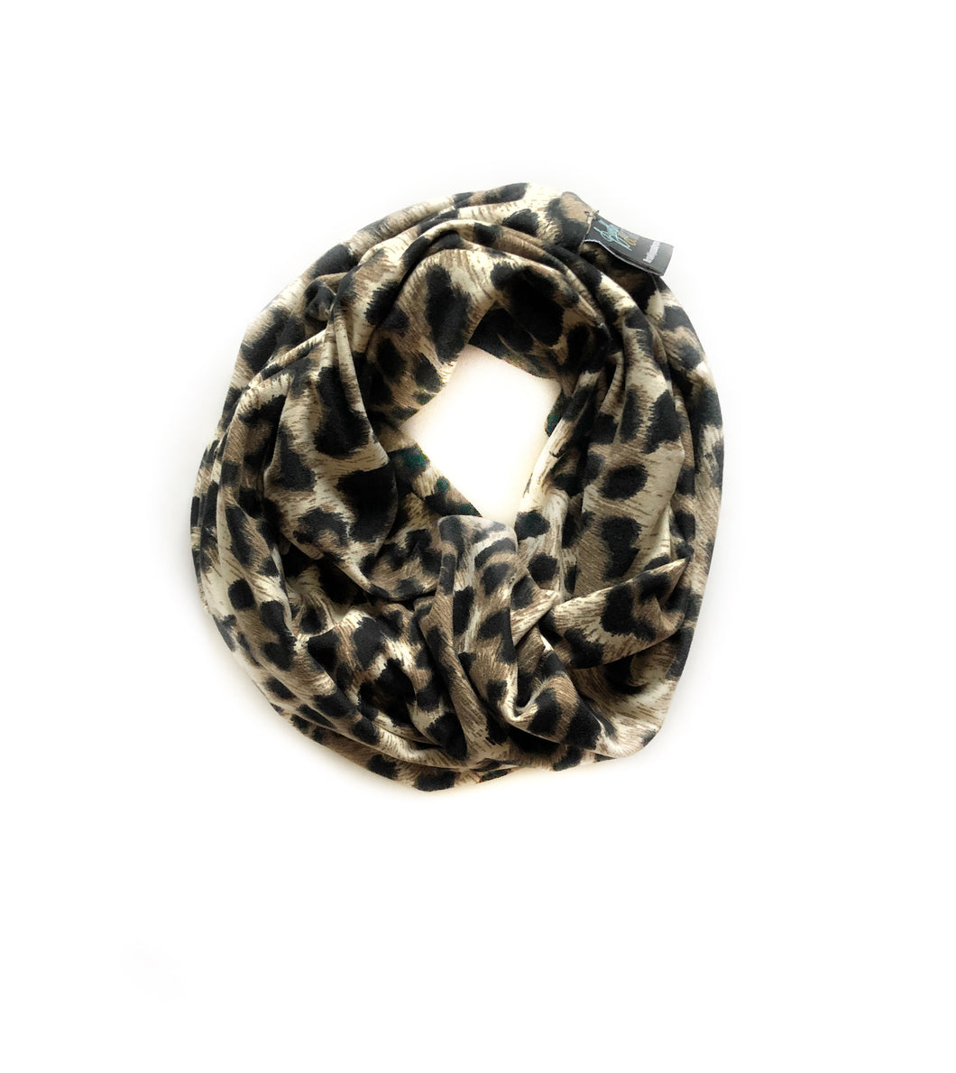 Leopard Infinity scarf - high quality handmade kids clothes - Brooklynn & Grey