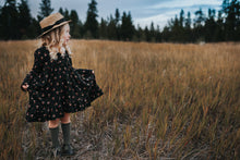 Black floral Hi/Low Dress - high quality handmade kids clothes - Brooklynn & Grey