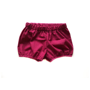 RTS Plum fusion   Baby bloomer shorts - high quality handmade kids clothes - Brooklynn & Grey