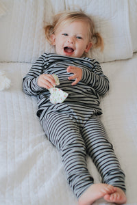 PJ set- Thermal Stripe - high quality handmade kids clothes - Brooklynn & Grey