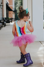 Jolie-Rainbow Bright playsuit (PRE ORDER) - high quality handmade kids clothes - Brooklynn & Grey