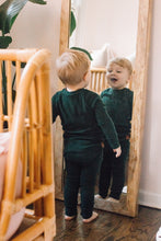 Solid green pj set - high quality handmade kids clothes - Brooklynn & Grey