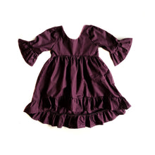 Deep Plum Hi/Low Dress - high quality handmade kids clothes - Brooklynn & Grey