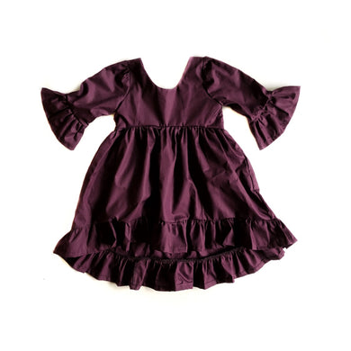 Deep Plum Hi/Low Dress